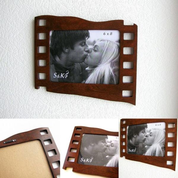 Фоторамка, рамка для фото оригинальная, кадр, пленка, макет, вектор, для лазерной резки