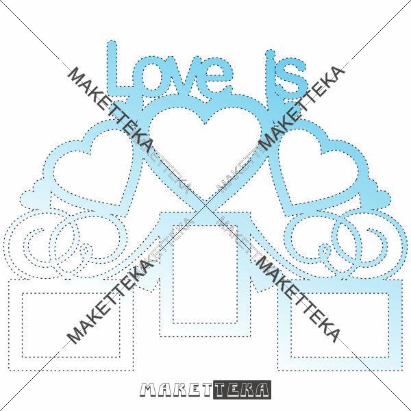 "Рамка ""Love is"""