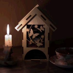 Чайный домик, бабочка, коробка под чай, Tea house, butterfly, tea box
