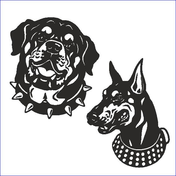 Ротвейлер, овчарка, немецкая, собака, охрана, сторожевой пес, трафарет собаки, боксер, дог, доберман, оскал, пес, вектор, макет, для лазерной резки, гравировки.