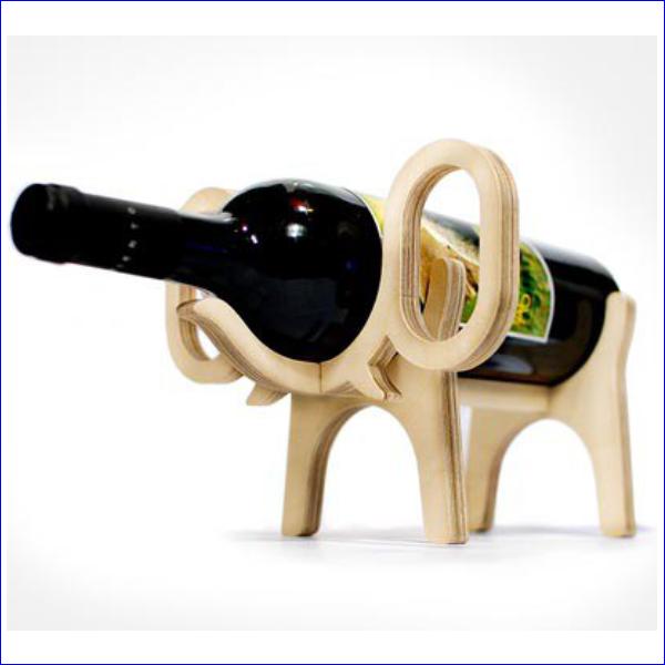 Подставка под бутылку, под вино, слон, на стол, подарок, макет, вектор, лазерная резка, фрезерная резка