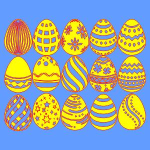 Пасха, яйца, пасхальные для лазерной, фрезерной резки, вектор, макет, готовый