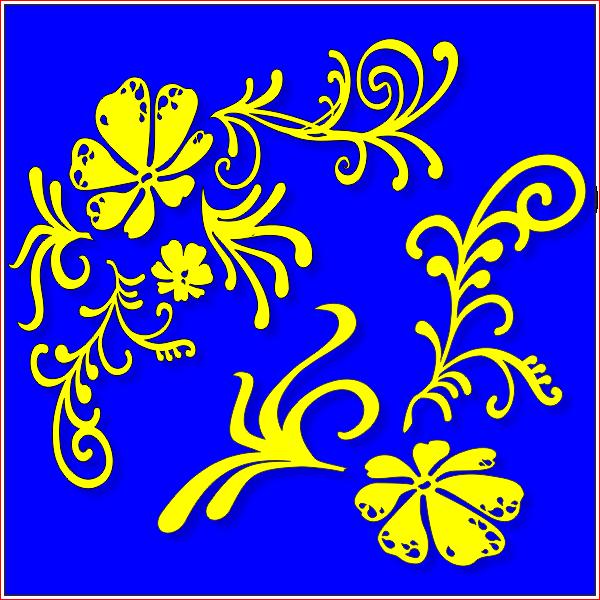 Декор, цветок, листья,  для лазерной, фрезерной резки, вектор, макет, готовый