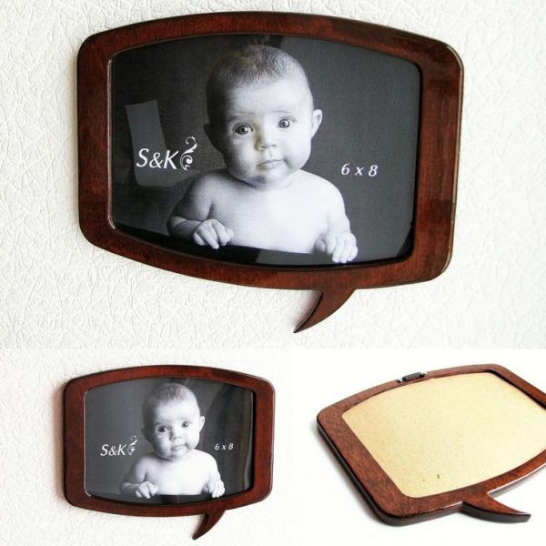 Фоторамка, рамка для фото оригинальная, макет, вектор, для лазерной резки