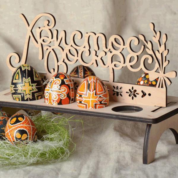 Пасхальная подставка для яиц, вектор, лазерная резка, макеты, Easter egg stand