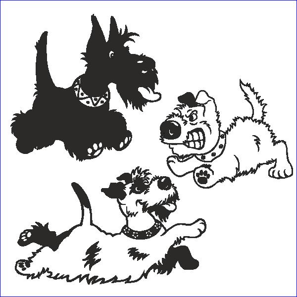 Собака, охрана, сторожевой пес, трафарет собаки, пес, болонка, дворняга, дворняжка, мальтийская болонка, вектор, макет, для лазерной резки, гравировки.