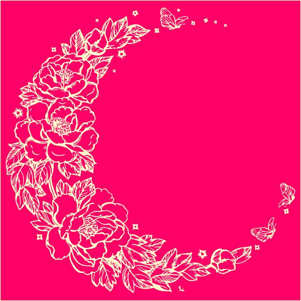 Макет цветы, круг, рамка, из цветов, на медаль, вектор, декор, макет, лазерная резка, для всех, не дорого