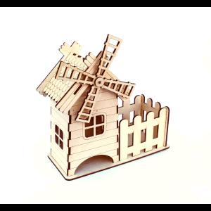 Чайный домик, мельница, забор, Tea house, mill, fence
