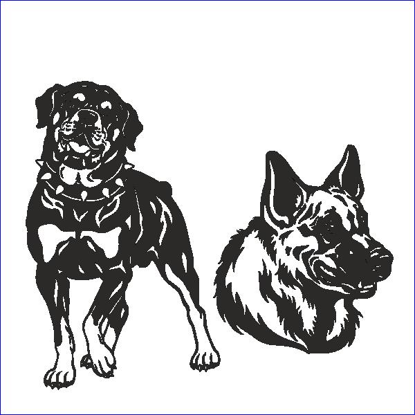 Ротвейлер, овчарка, немецкая, собака, охрана, сторожевой пес, трафарет собаки, вектор, макет, для лазерной резки, гравировки.
