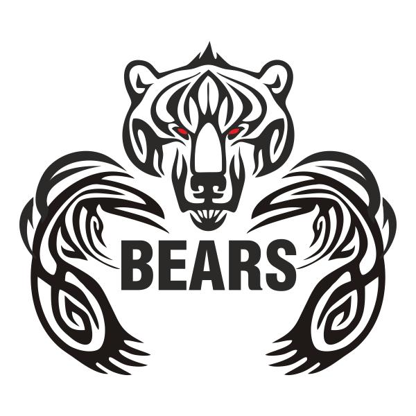 Медведь, вектор, морда, голова, лапы, грызли