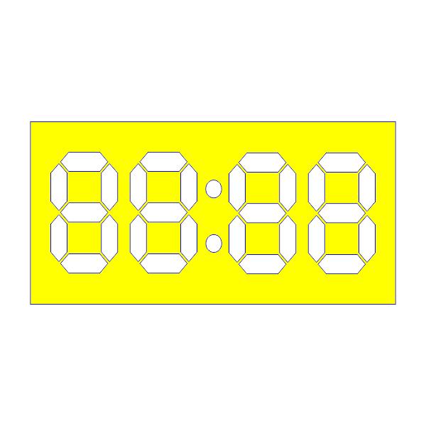 Часы, электронные, табло, циферблат