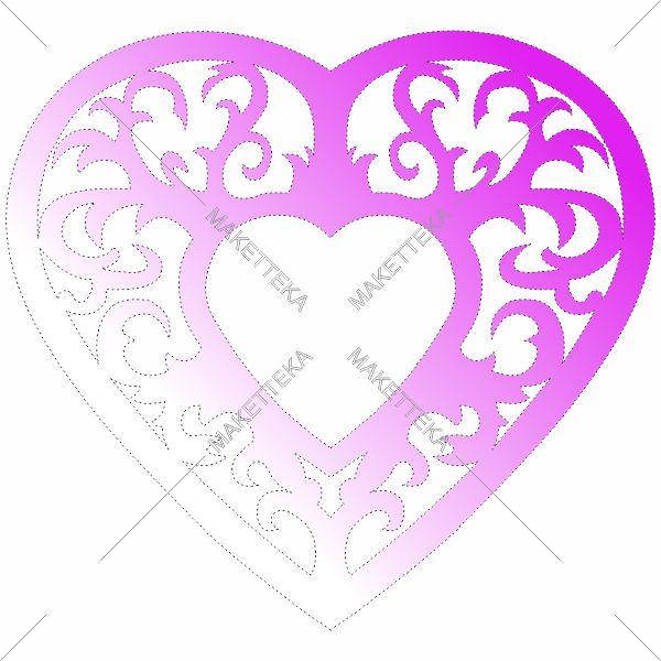 Сердце, узоры, рамка, фоторамка