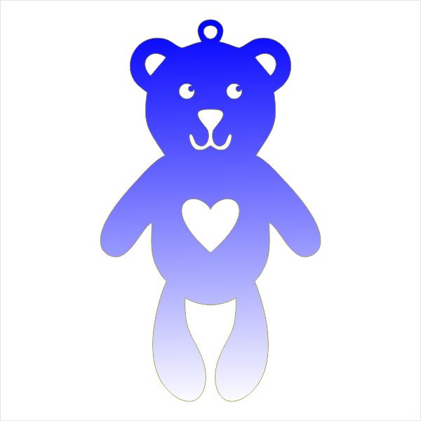 Мишка, медведь, игрушка, сердце, на ёлку, декор