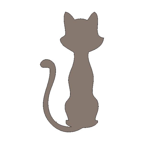 Трафарет кошка