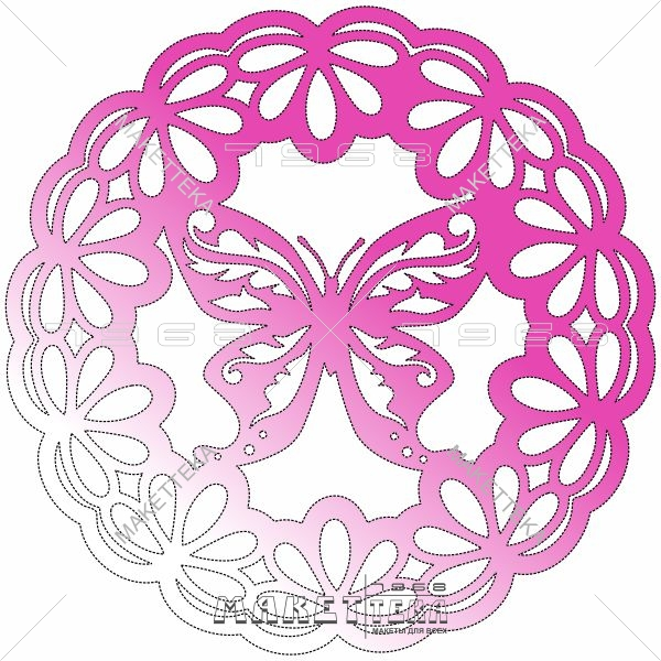 Бабочка, круг, значок, узор