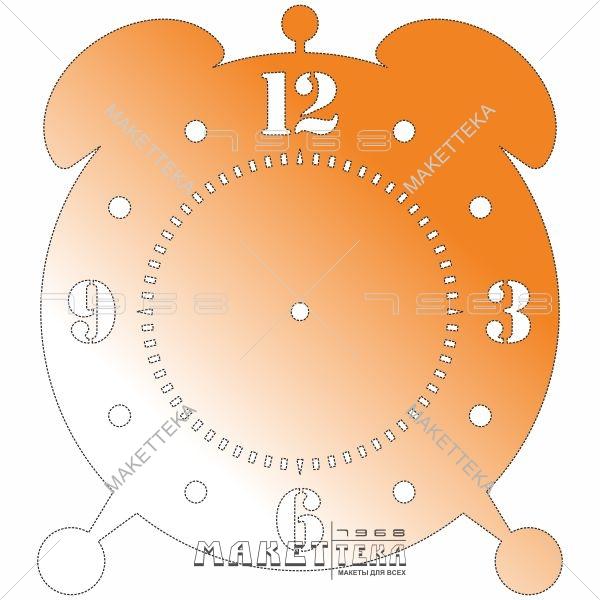 Часы, будильник, циферблат, резка