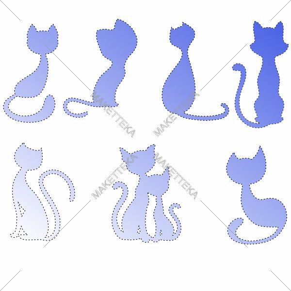 Кошки, фигурки, значки
