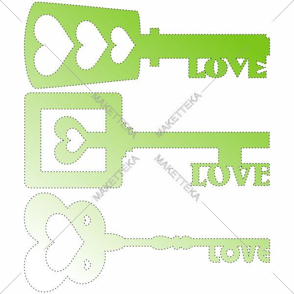 Ключи, сердце, love, любовь