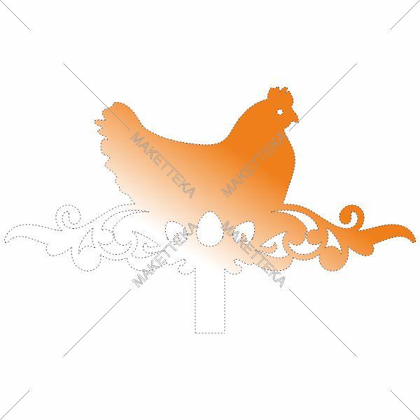 Курица, яйцо, топпер